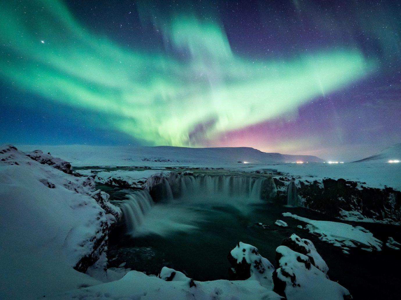 Trip Ideas phenomenon Nature aurora outdoor atmosphere Night Sky
