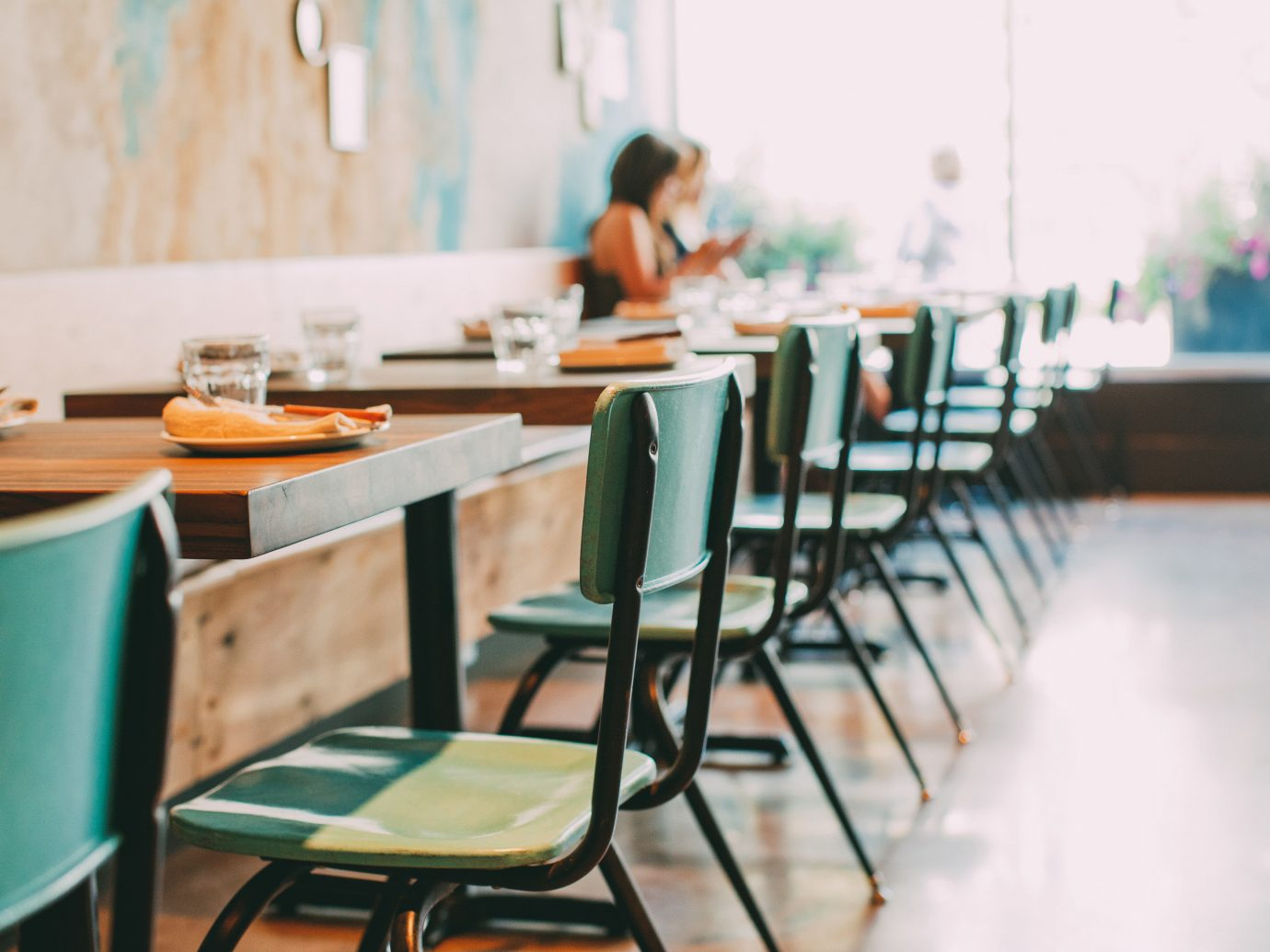 Alberta Canada Road Trips table color floor indoor room restaurant green Design interior design Dining meal classroom furniture dining table
