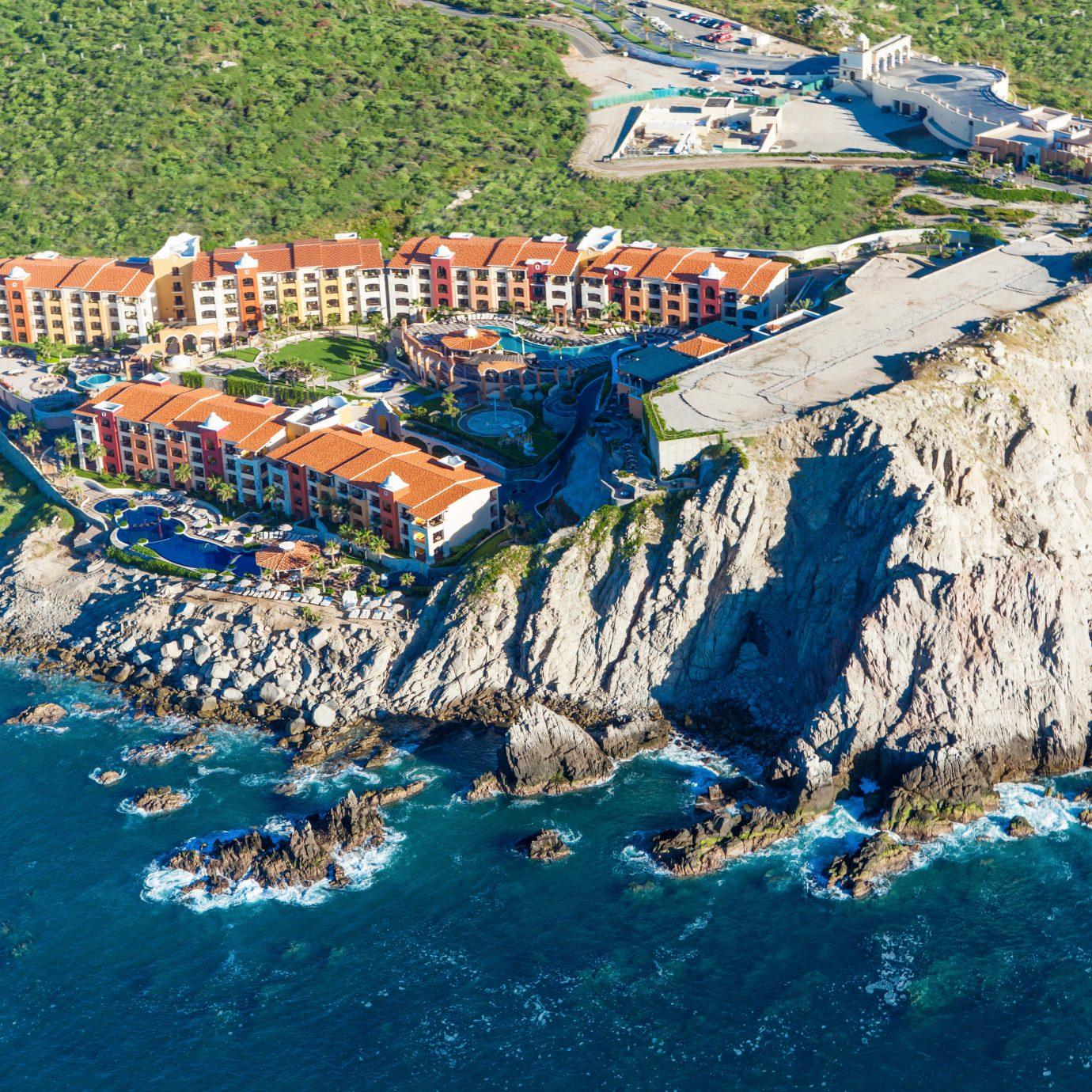 Adventure All-inclusive Architecture Beachfront Exterior Honeymoon Nature Ocean Romance aerial photography valley canyon Sea Coast terrain amusement park