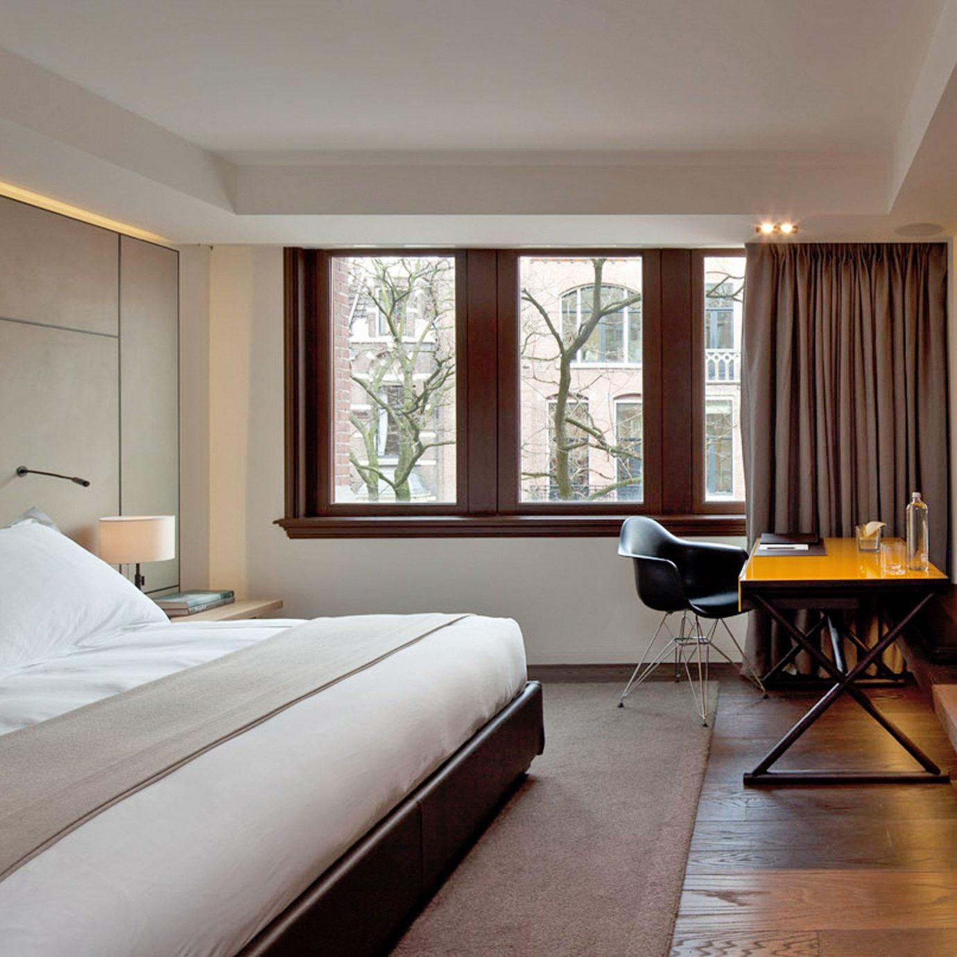 Amsterdam Bedroom Boutique Hip Hotels Modern The Netherlands property Suite hardwood home condominium living room cottage