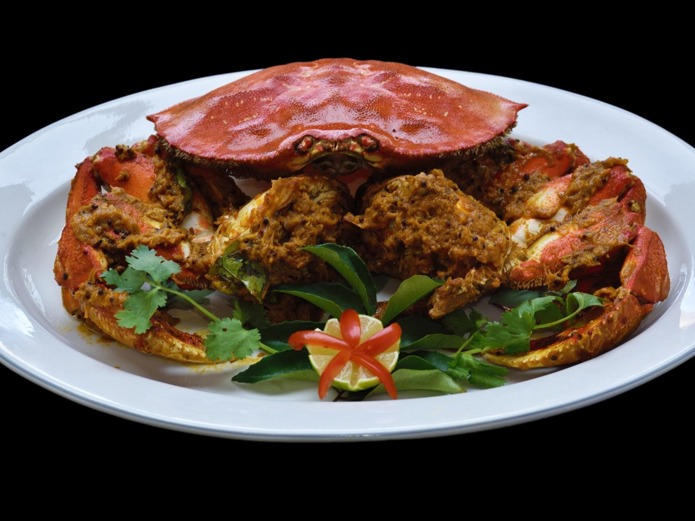 Food + Drink plate food table dish meal cuisine Seafood fried food meat produce tandoori chicken snack food piece de resistance