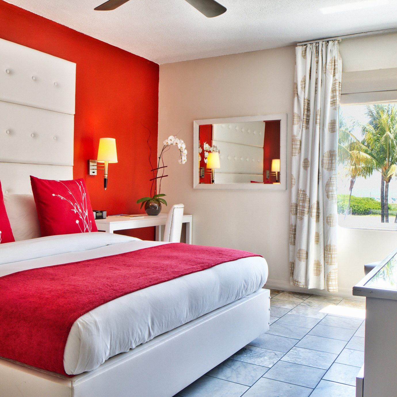 Architecture Beach Beachfront Bedroom sofa red property home Suite white living room bed sheet cottage