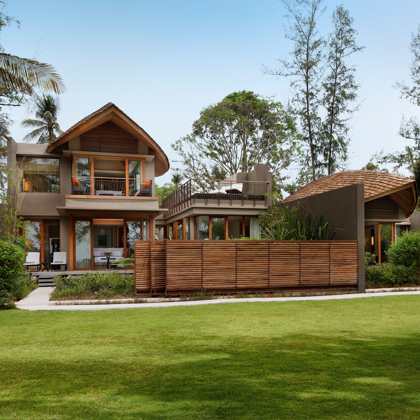 Architecture Buildings Exterior Grounds Luxury Romantic grass tree sky house property home building lawn residential area backyard log cabin Villa mansion cottage Resort yard outdoor structure farmhouse residential