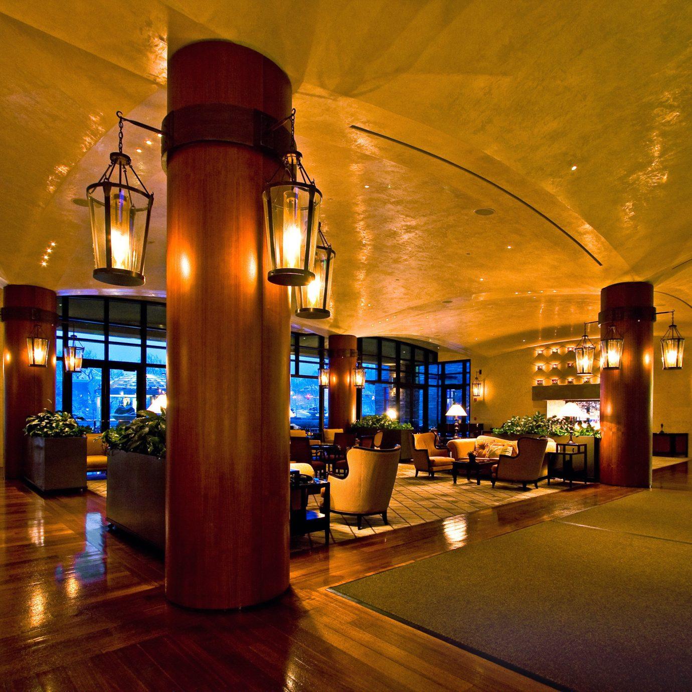 Classic Elegant Lobby Resort Spa night light building Architecture evening lighting shopping mall
