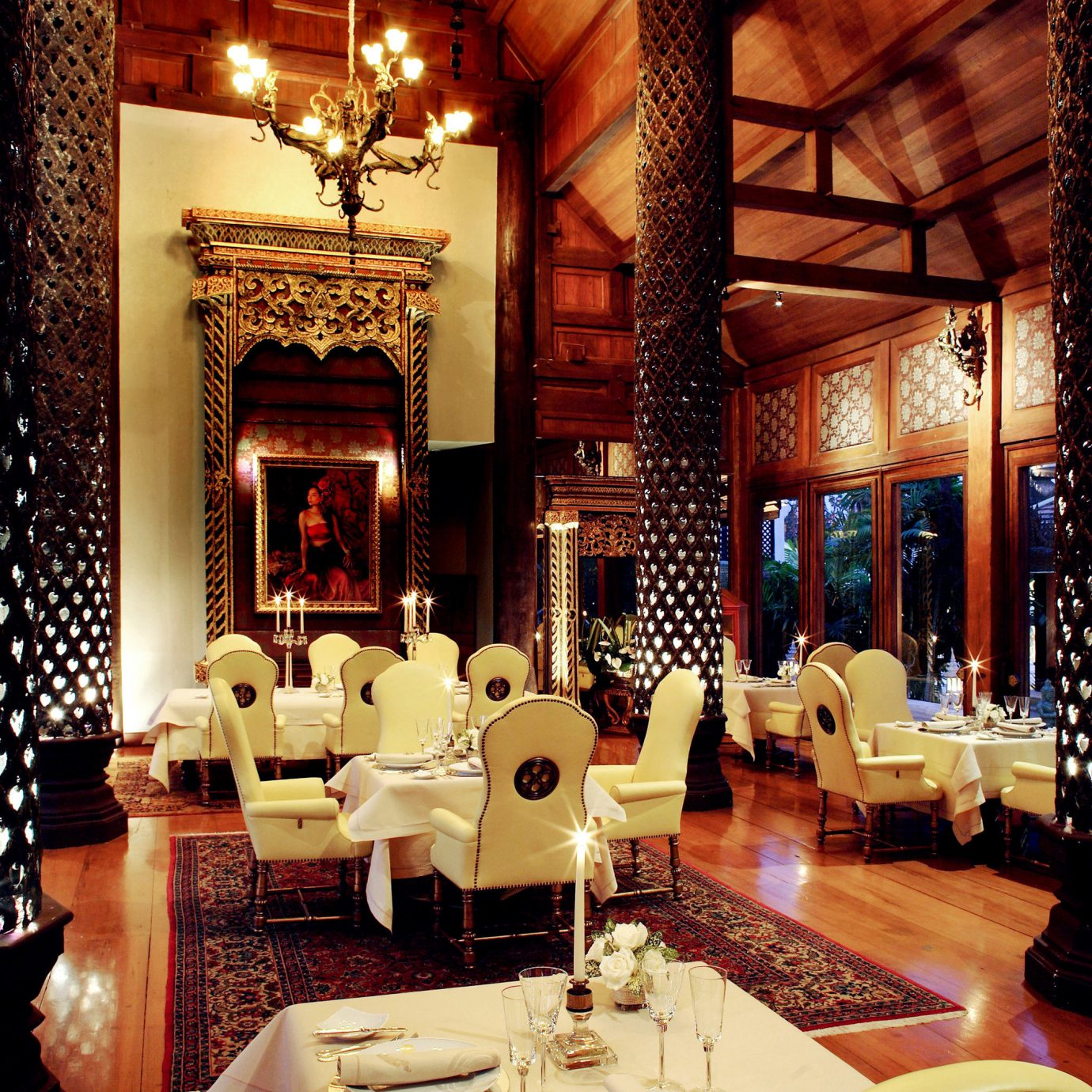 Architecture Cultural Dining Drink Eat Luxury Resort Lobby living room restaurant mansion