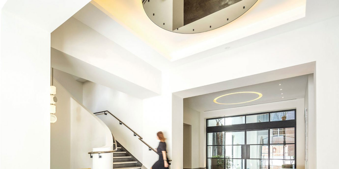 property stairs Architecture daylighting lighting home living room professional loft