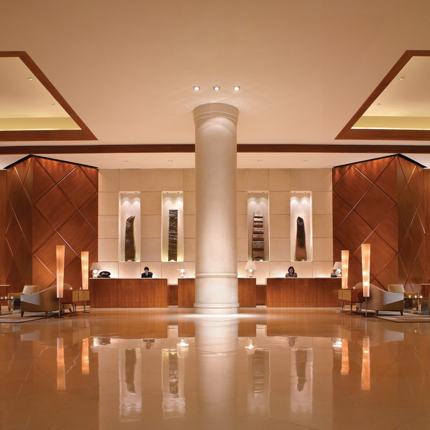 Lobby Lounge Luxury building Architecture lighting tourist attraction ballroom hall counter art gallery