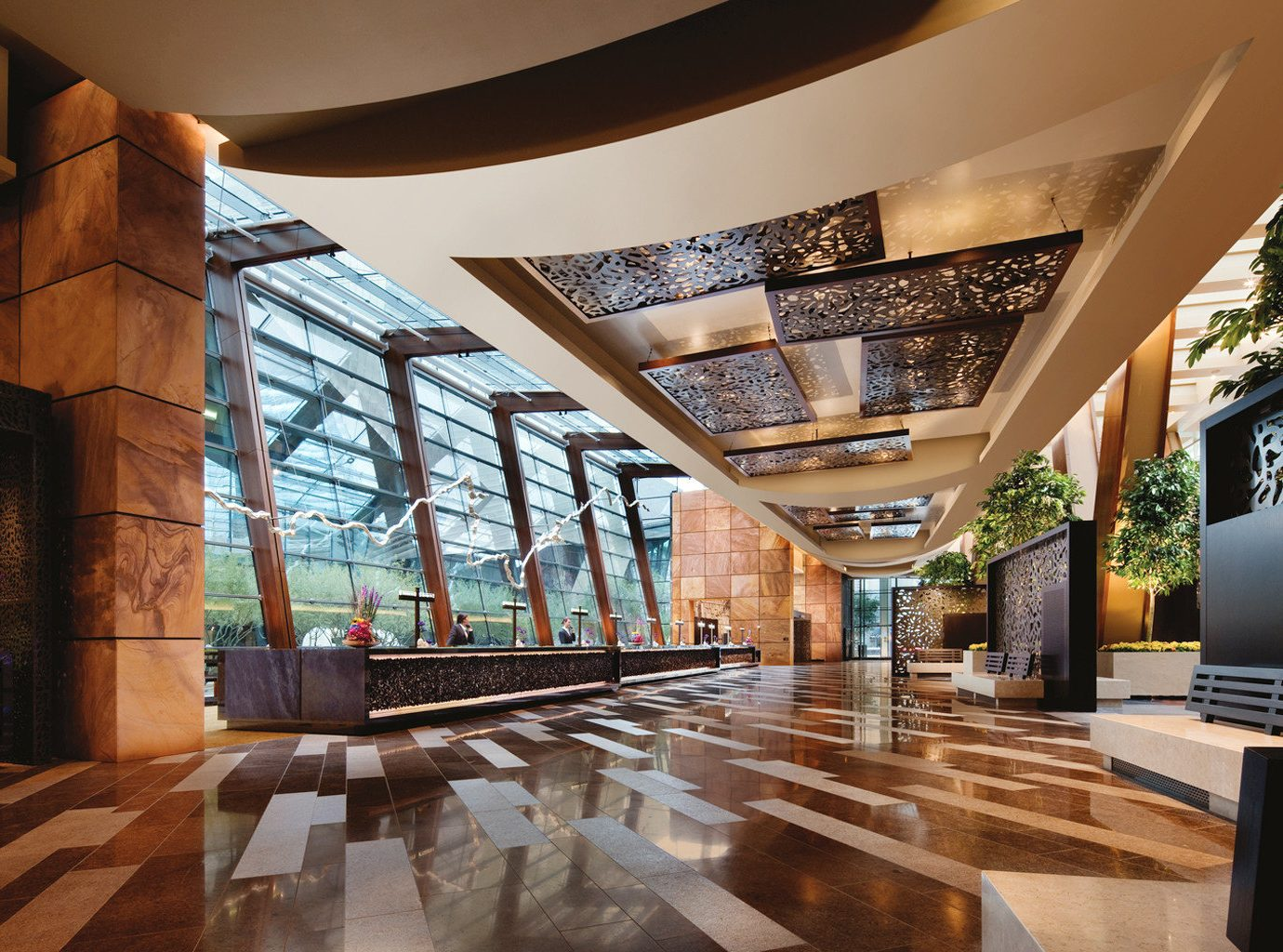 Lobby Architecture home living room tourist attraction mansion stone Resort headquarters