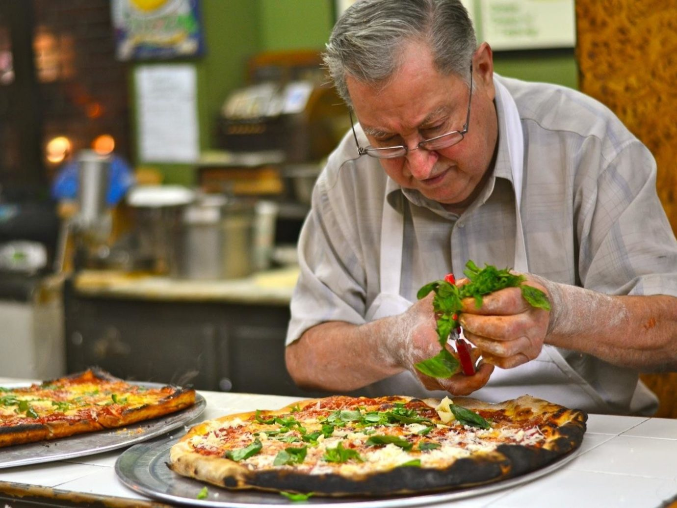 Brooklyn City Food + Drink NYC person food pizza man dish indoor cuisine professional cook chef meal appetizer brunch recipe supper snack food