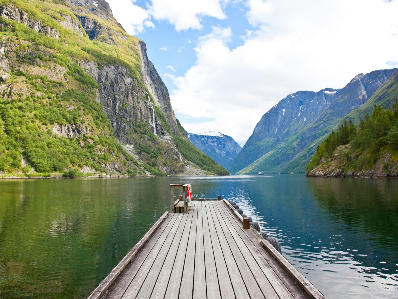 dock Lake Mountains Nature Outdoor Activities Outdoors overlook Scenic views Trip Ideas view viewpoint water mountain outdoor Boat landform River fjord mountain range vacation reservoir loch glacial landform vehicle alps traveling surrounded