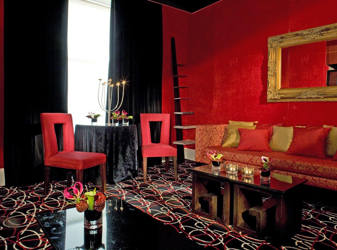 B&B Boutique Drink Lounge red restaurant Bar living room