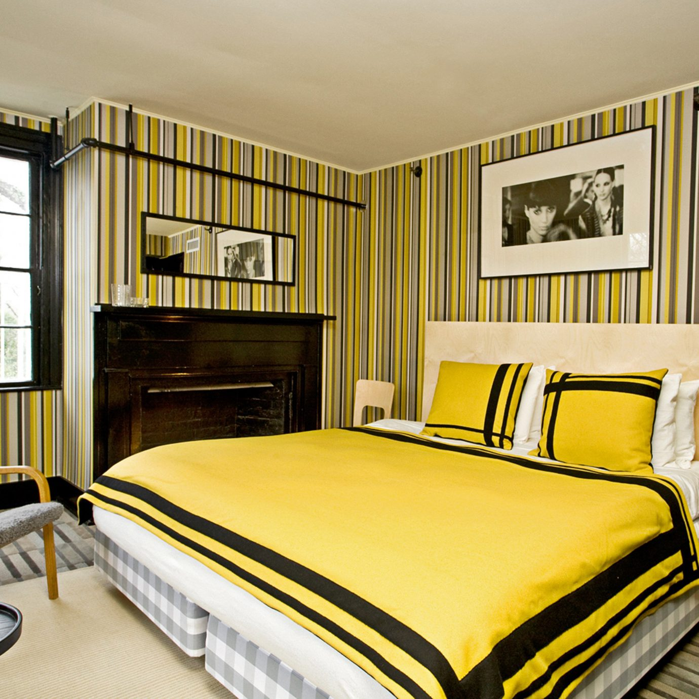 B&B Bedroom Boutique Family Hip Outdoor Activities yellow property home Suite bed sheet bed frame living room