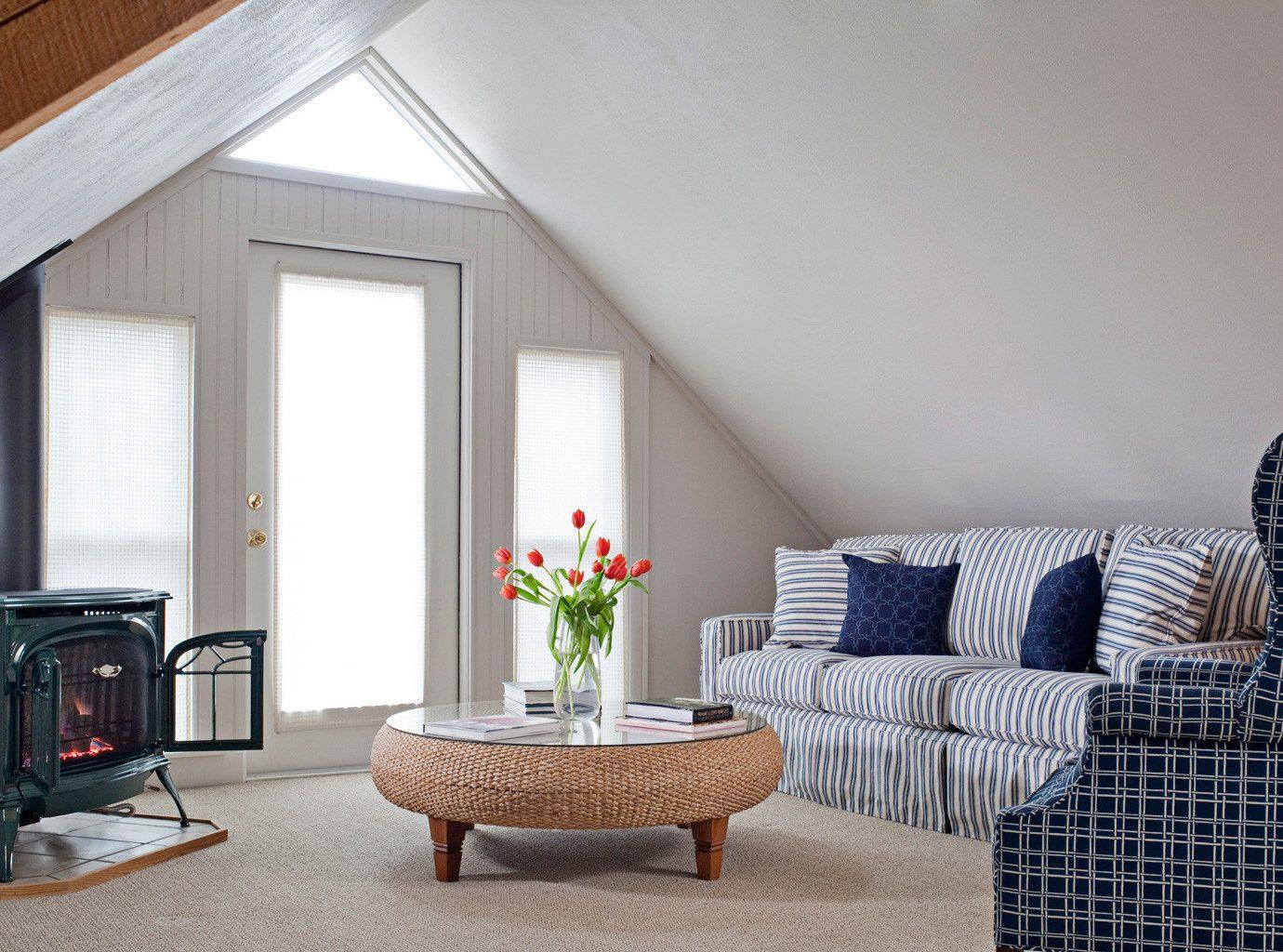 B&B Elegant Fireplace Historic Inn Lounge living room property home cottage porch sofa leather