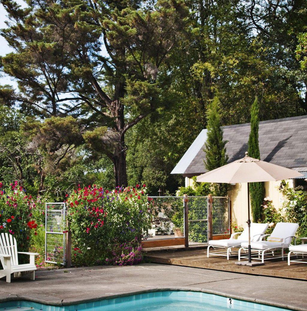 tree outdoor swimming pool property estate backyard Villa Pool cottage Resort