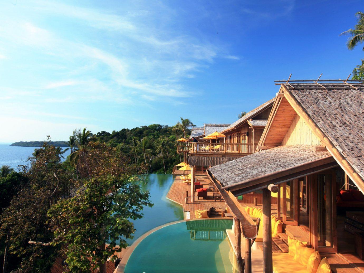 Hotels sky tree outdoor property vacation building house estate Sea Resort tourism Coast Villa Village bay
