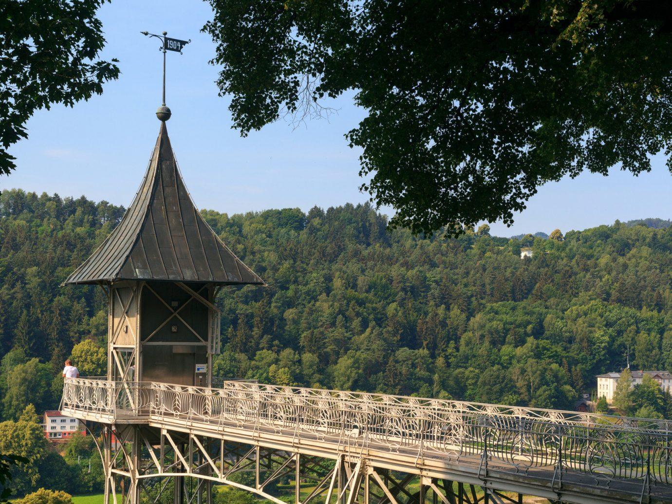 Trip Ideas tree outdoor building landmark bridge tourism rural area traveling park Forest surrounded