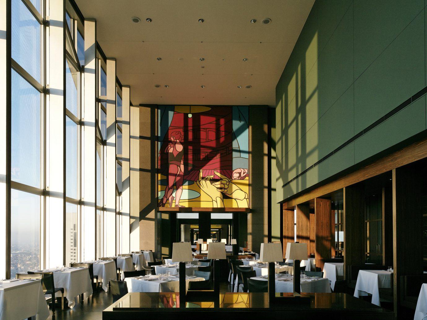 building indoor Architecture interior design restaurant Lobby lighting Design