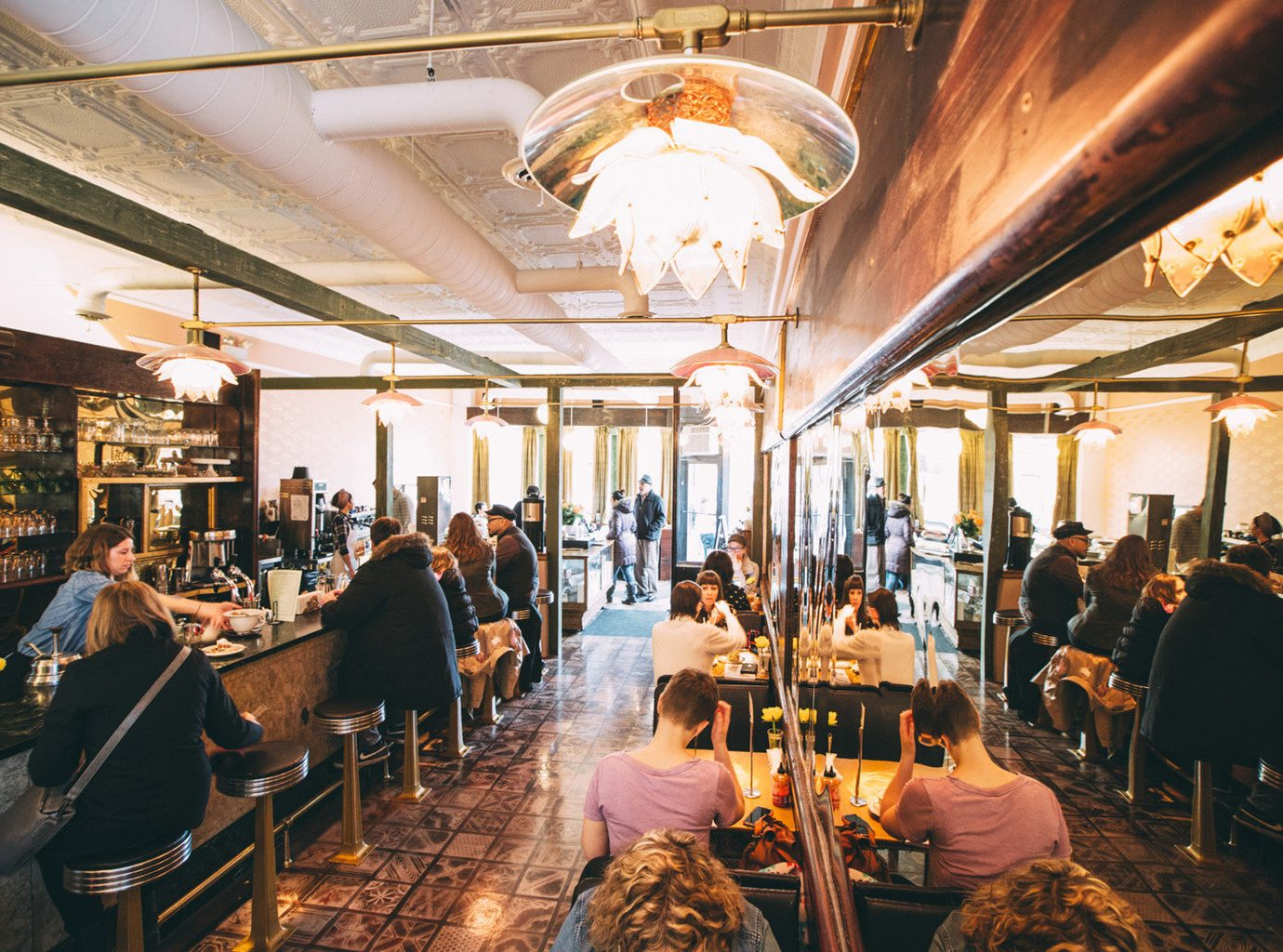 Trip Ideas indoor person ceiling people meal group restaurant Bar dining room several crowd