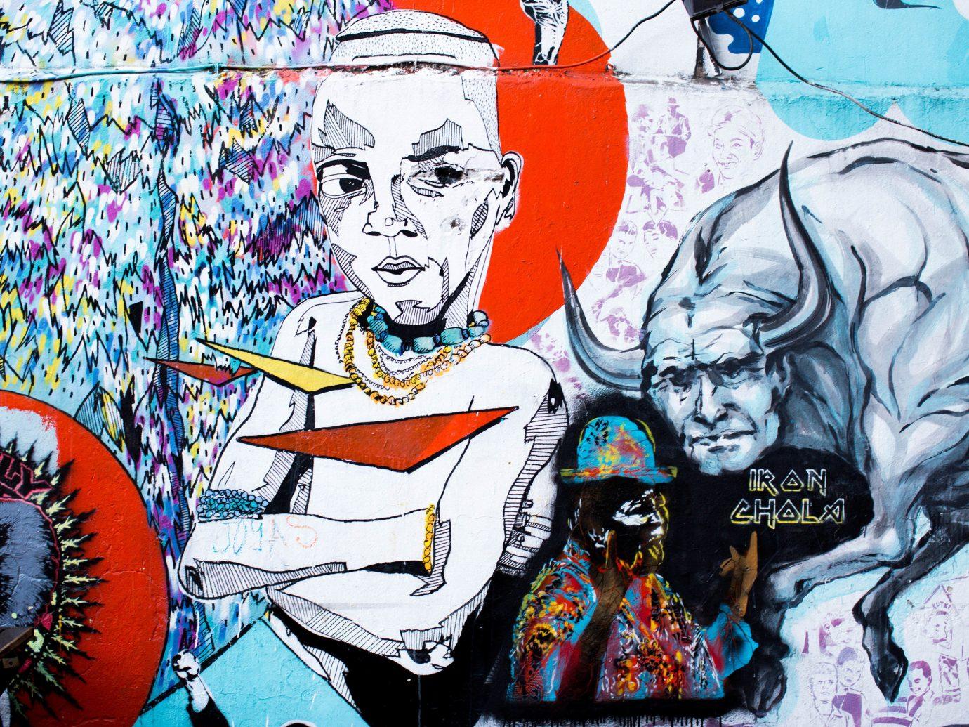 Trip Ideas art mural street art comic book graffiti modern art illustration colorful