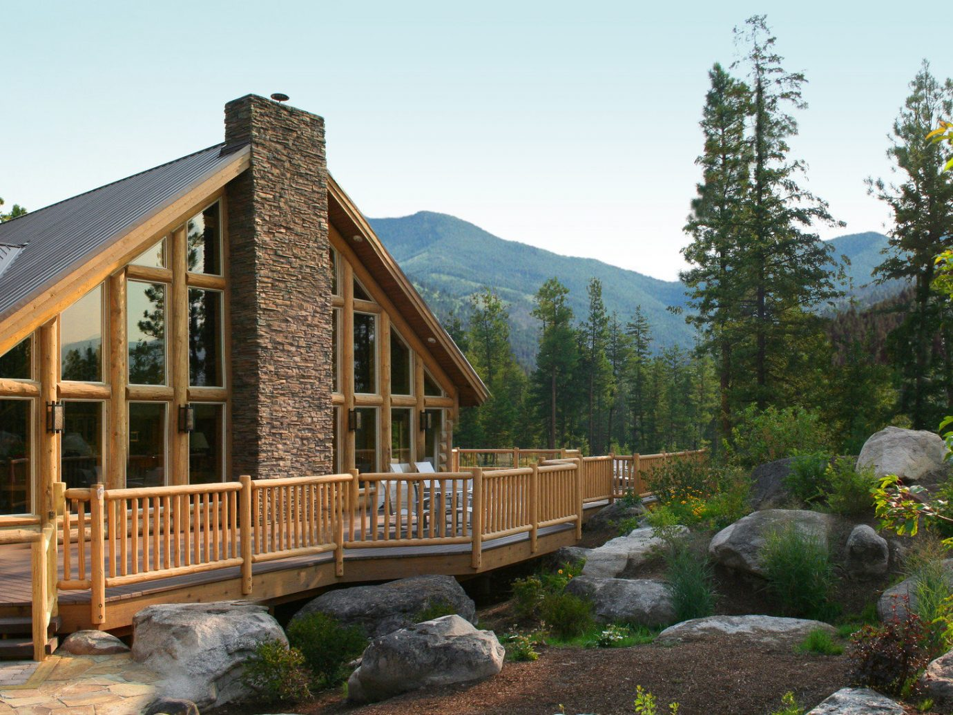 building Cabin charming cozy Exterior Glamping Hotels isolation Lodge log cabin Luxury Montana Mountains Nature Outdoors Outdoors + Adventure remote Rustic serene trees Trip Ideas wilderness sky outdoor tree house estate home cottage outdoor structure backyard Resort stone
