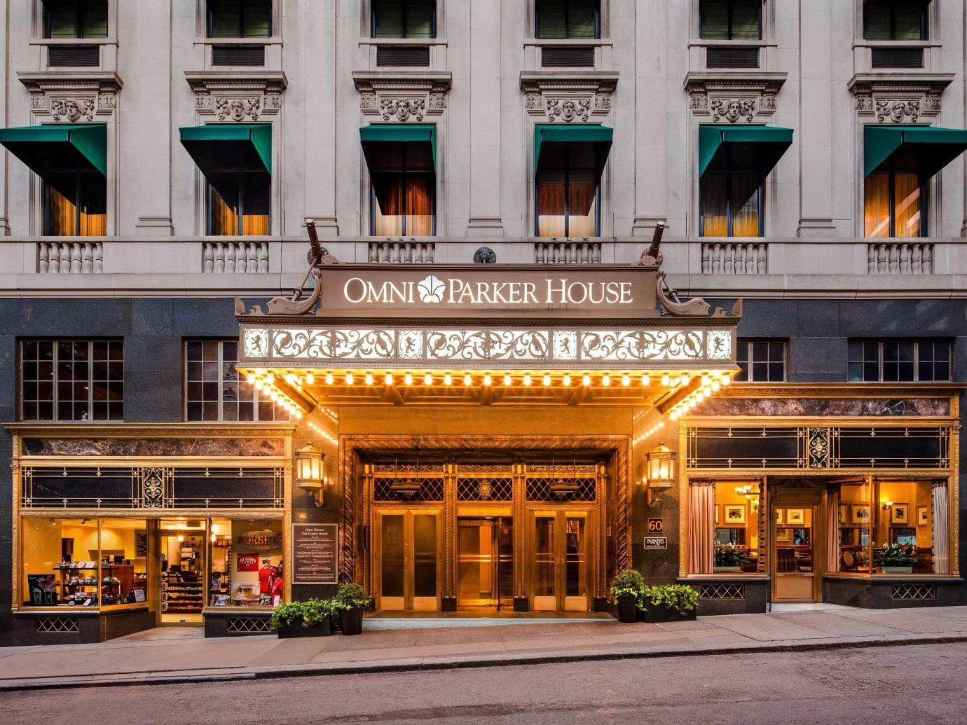 Hotels building outdoor landmark yellow mixed use City facade Downtown condominium metropolitan area night hotel window street