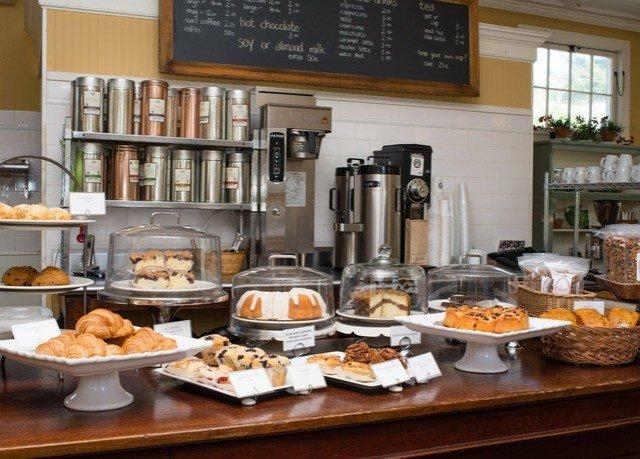 food plate counter buffet brunch breakfast cuisine restaurant bakery cluttered