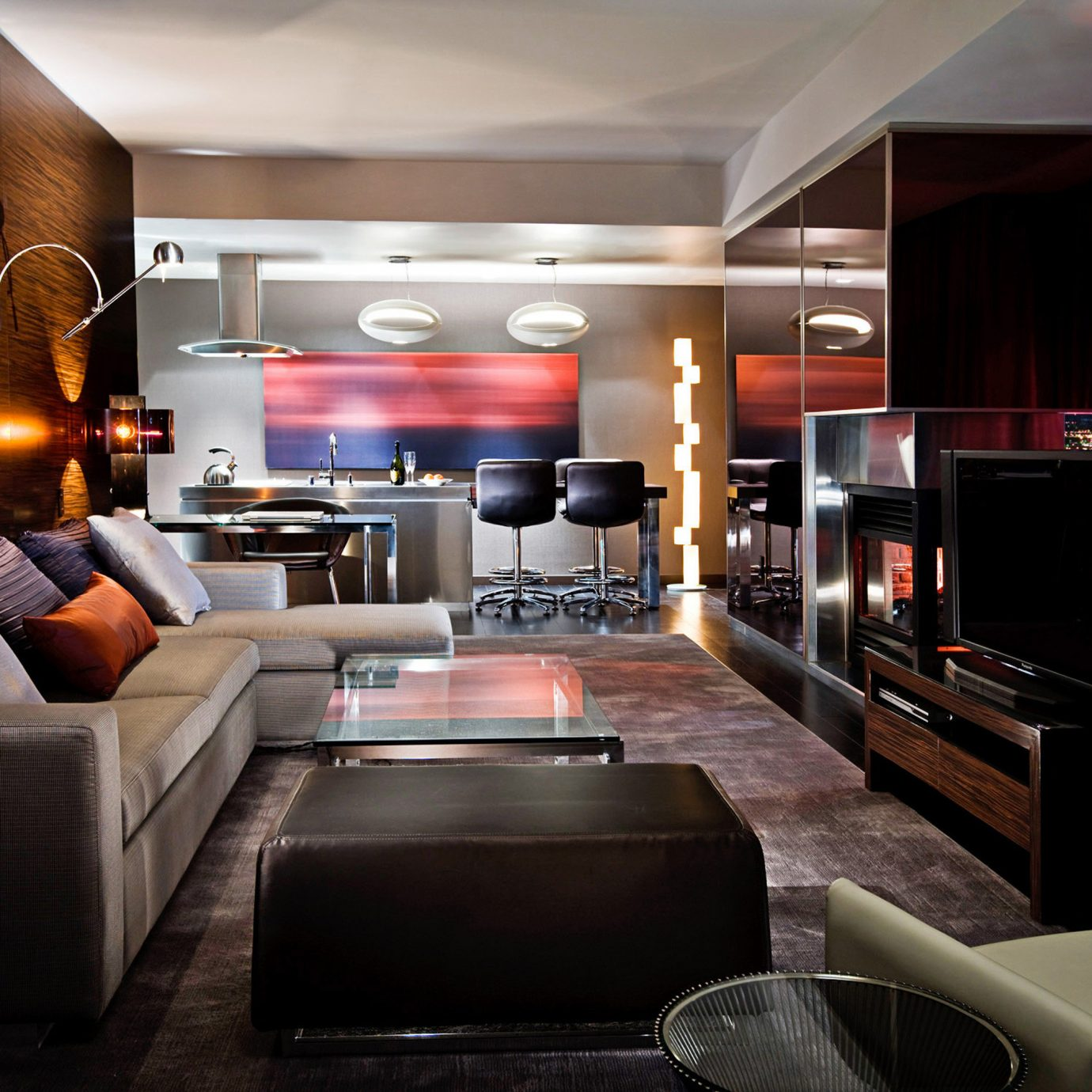 Budget City Entertainment Party Scenic views sofa recreation room Lobby living room home Bar Suite Modern