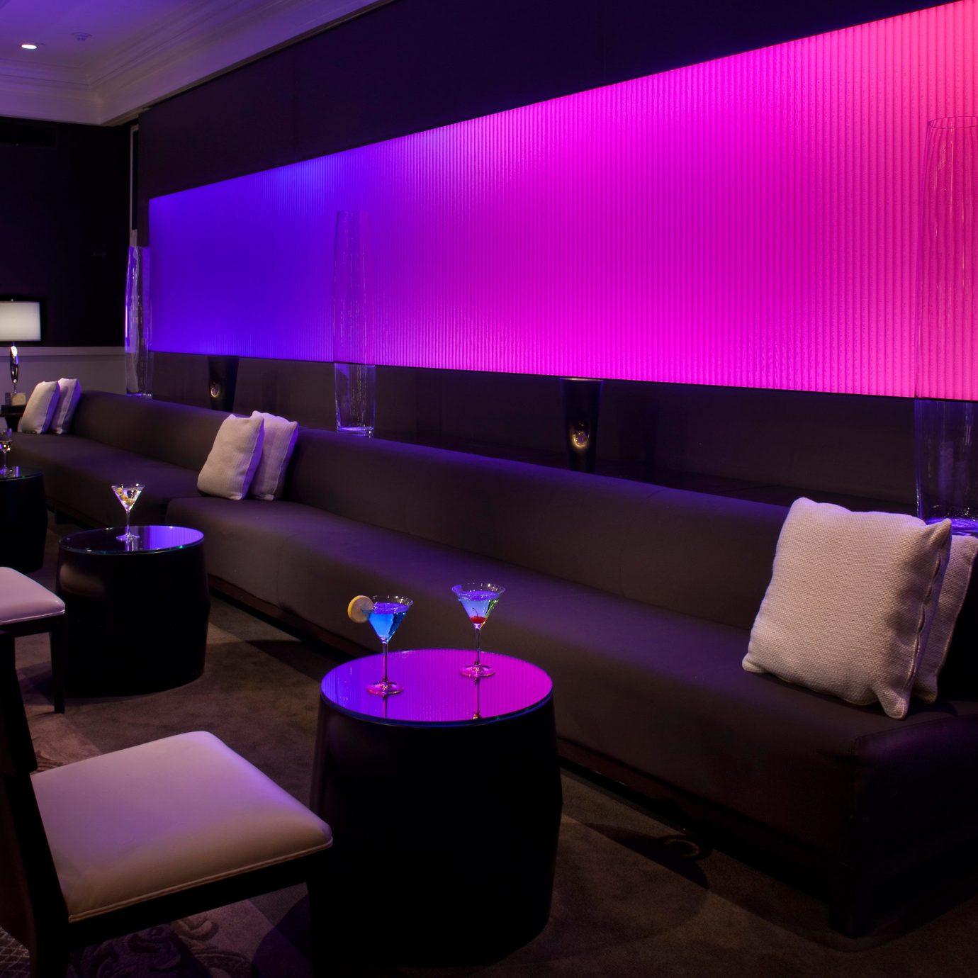 Dining Drink Eat Lounge Modern purple auditorium function hall Bar nightclub flat lamp