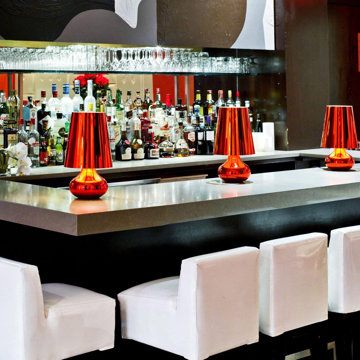 Bar Dining Drink Eat Hip Lounge Modern restaurant different colored