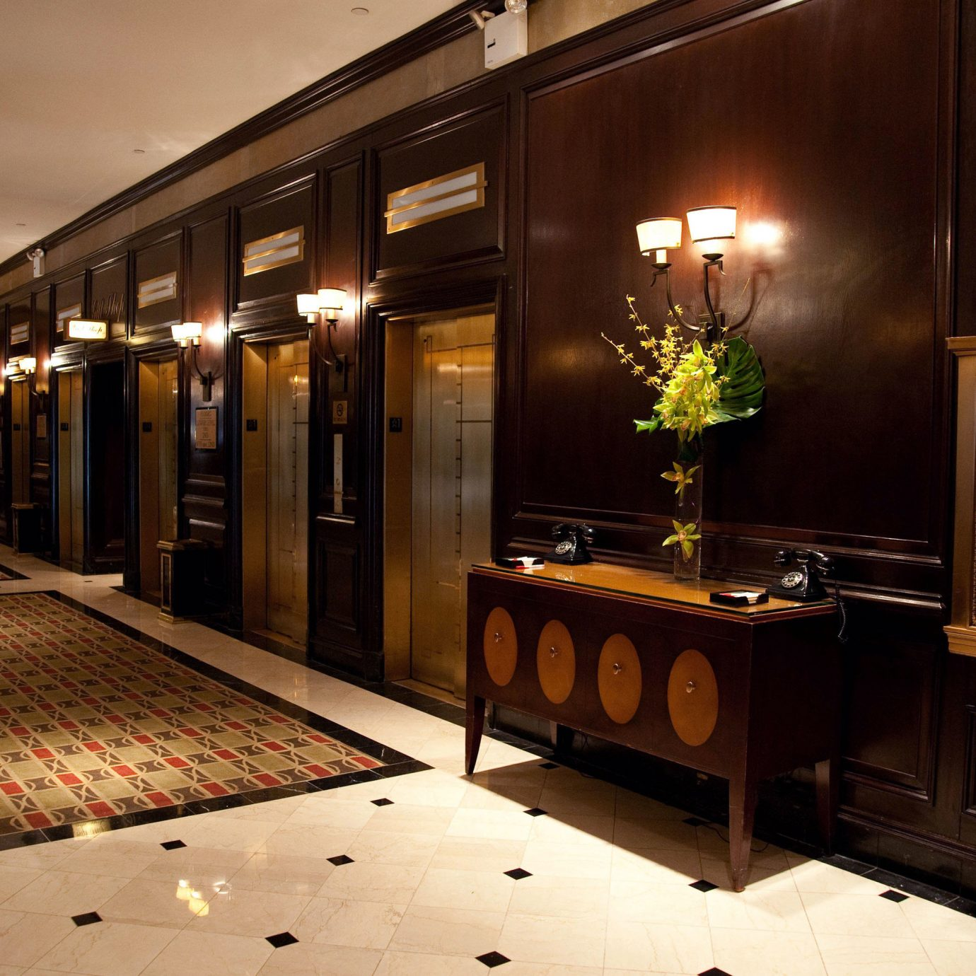 Lobby lighting restaurant Bar night
