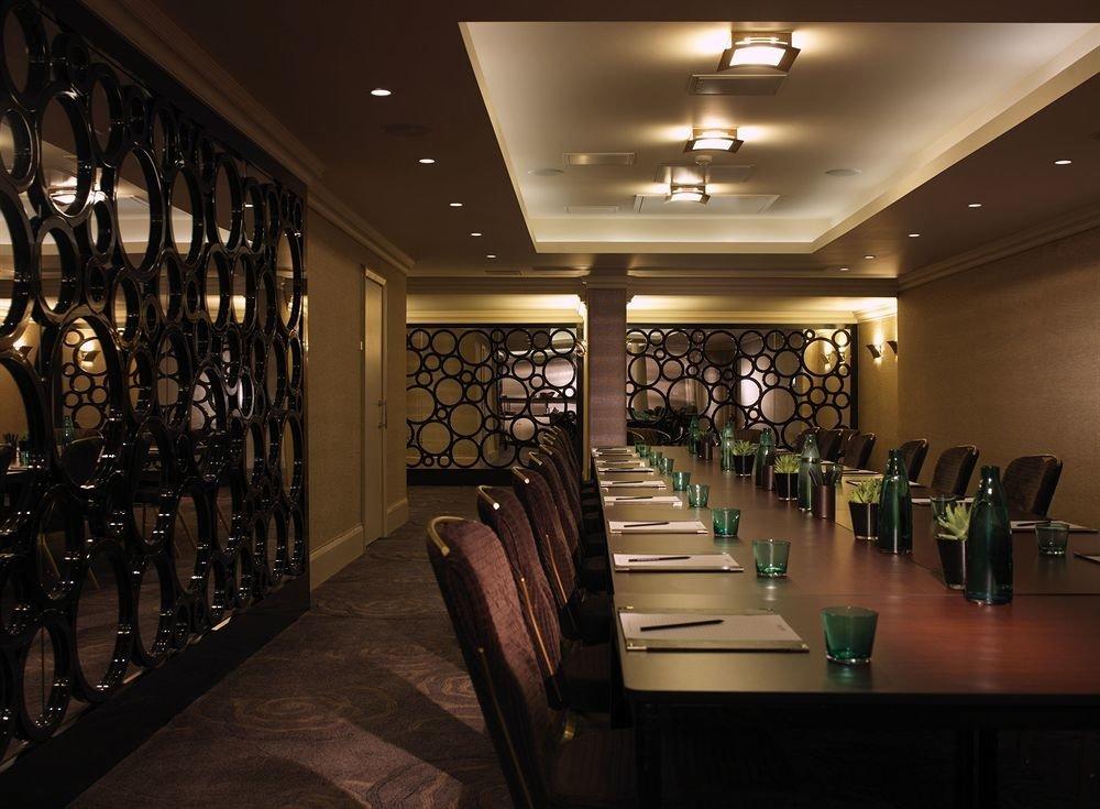 long Lobby lighting restaurant Bar Winery hall lined line basement