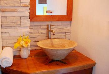bathroom property plumbing fixture sink wooden cottage bathtub