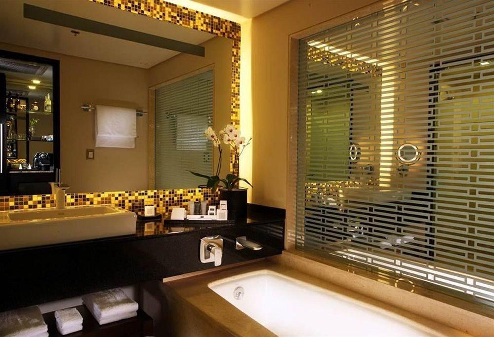 bathroom property lighting home sink living room condominium