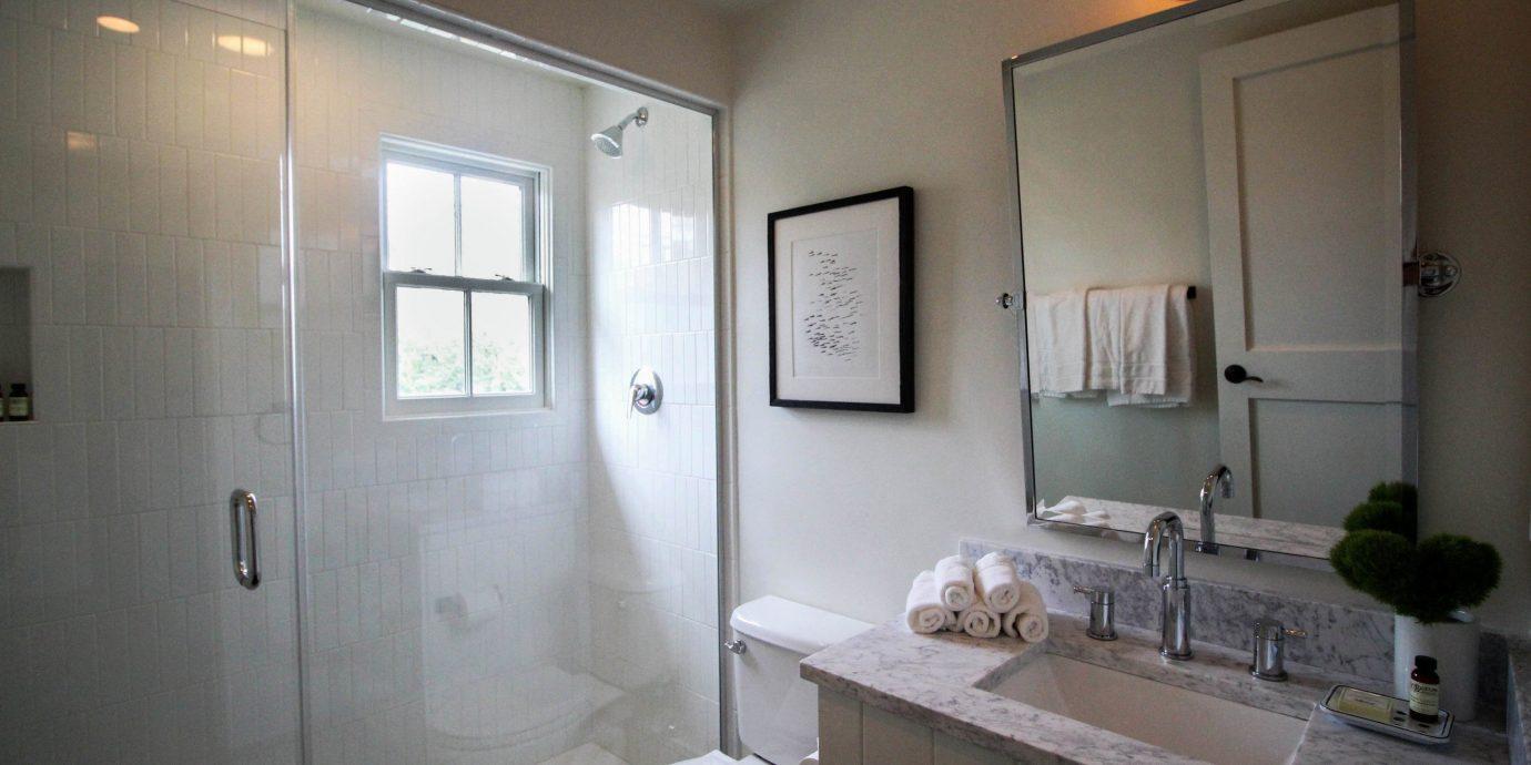 bathroom sink mirror property home cottage rack