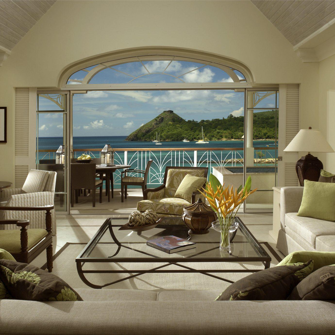 Beach Beachfront Classic Hotels Island Suite sofa living room property home condominium cottage mansion Villa