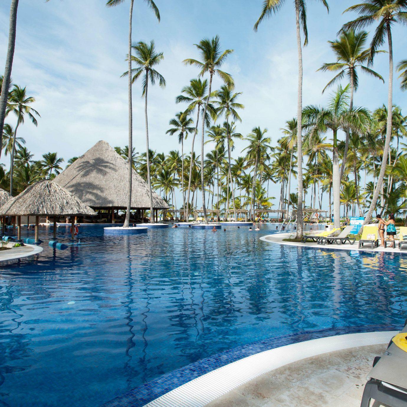 tree water sky leisure swimming pool Boat Resort Pool caribbean marina Sea resort town Lagoon swimming dock Beach palm lined