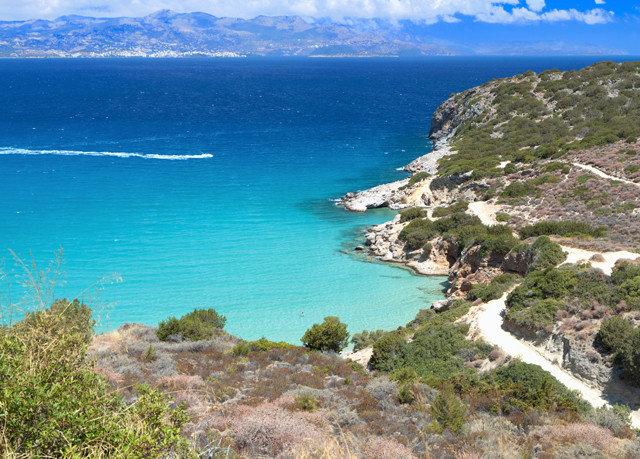 sky water Nature mountain Coast Sea headland shore rocky promontory cliff Beach Ocean cove terrain cape islet hill hillside blue clear overlooking Island