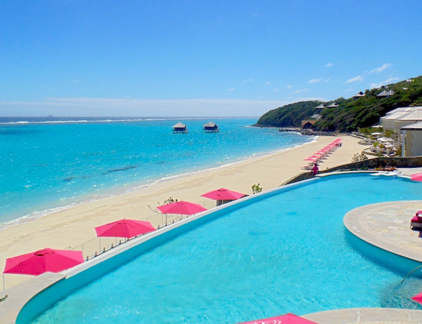 sky water swimming pool leisure Beach caribbean Resort Sea resort town Lagoon reef lined swimming shore