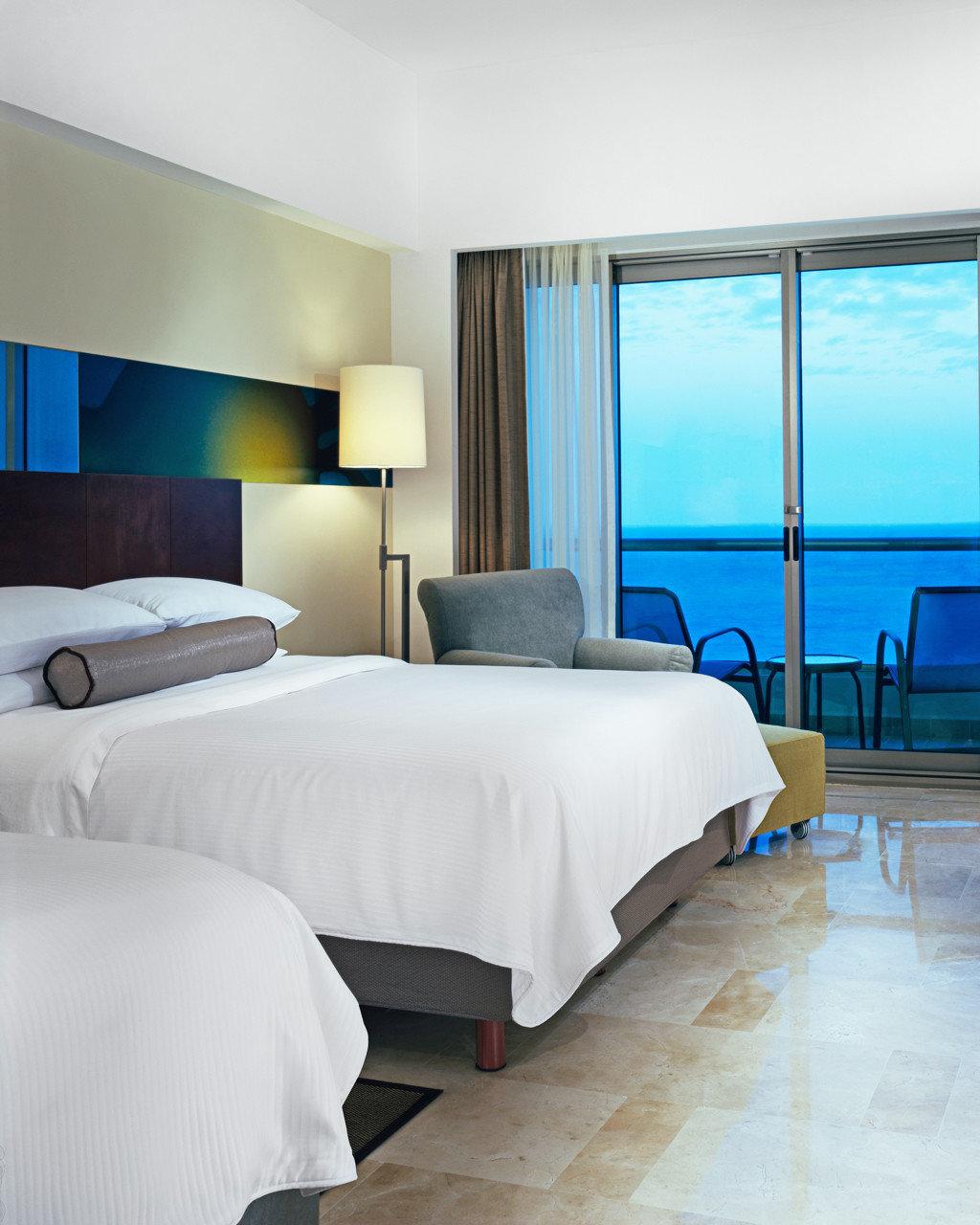 Beachfront Bedroom Luxury Modern property Suite living room night
