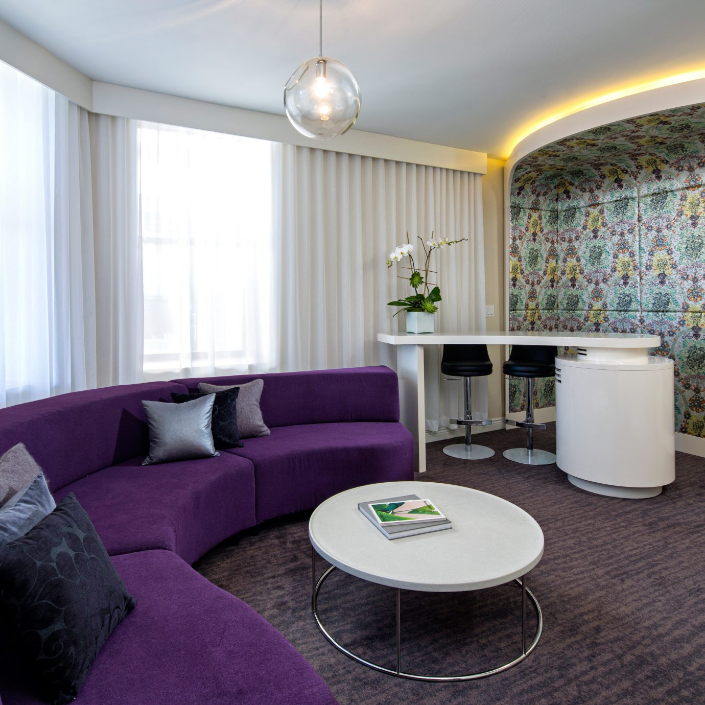 City Hip Suite property living room home condominium Bedroom colored