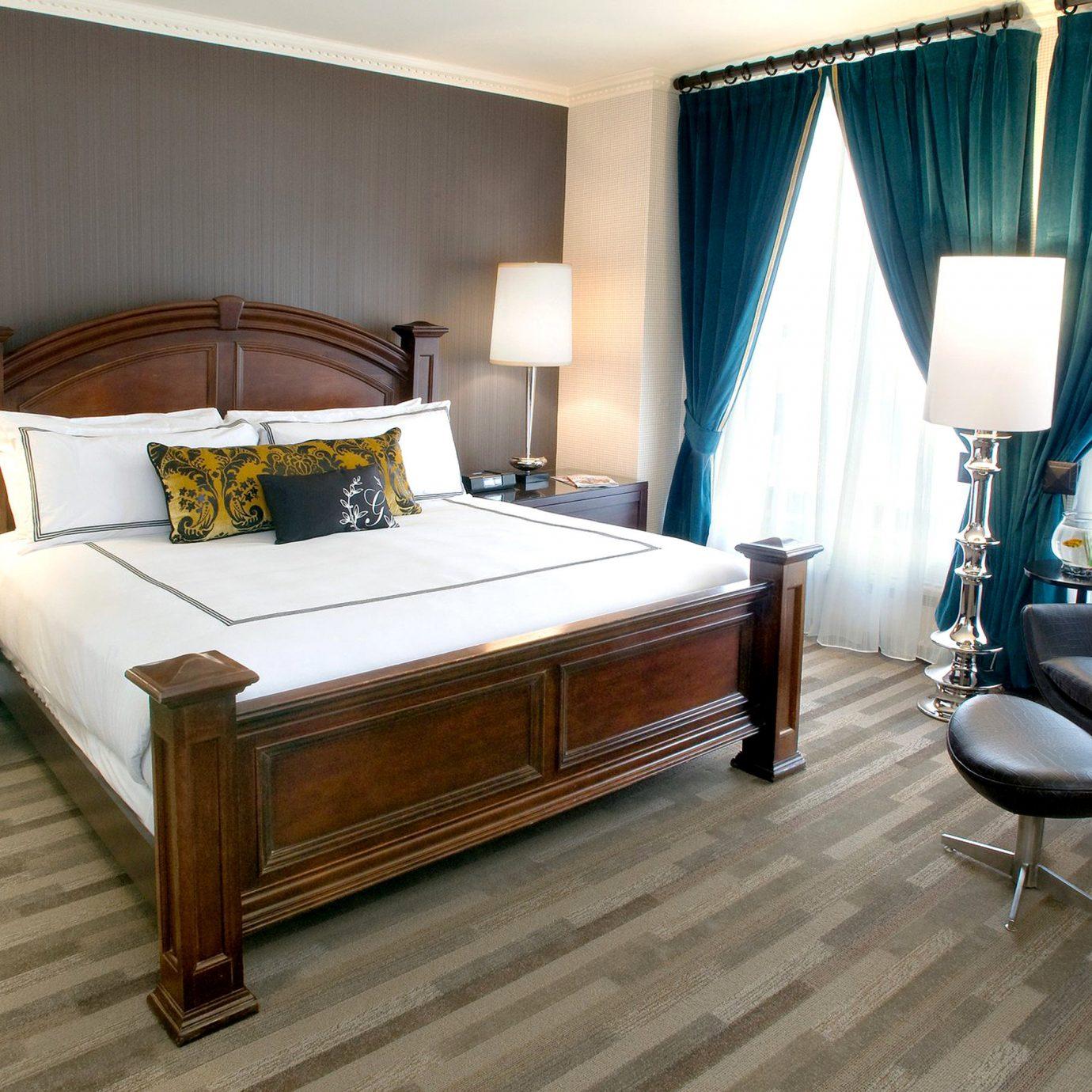 Bedroom City Modern property Suite curtain hardwood living room