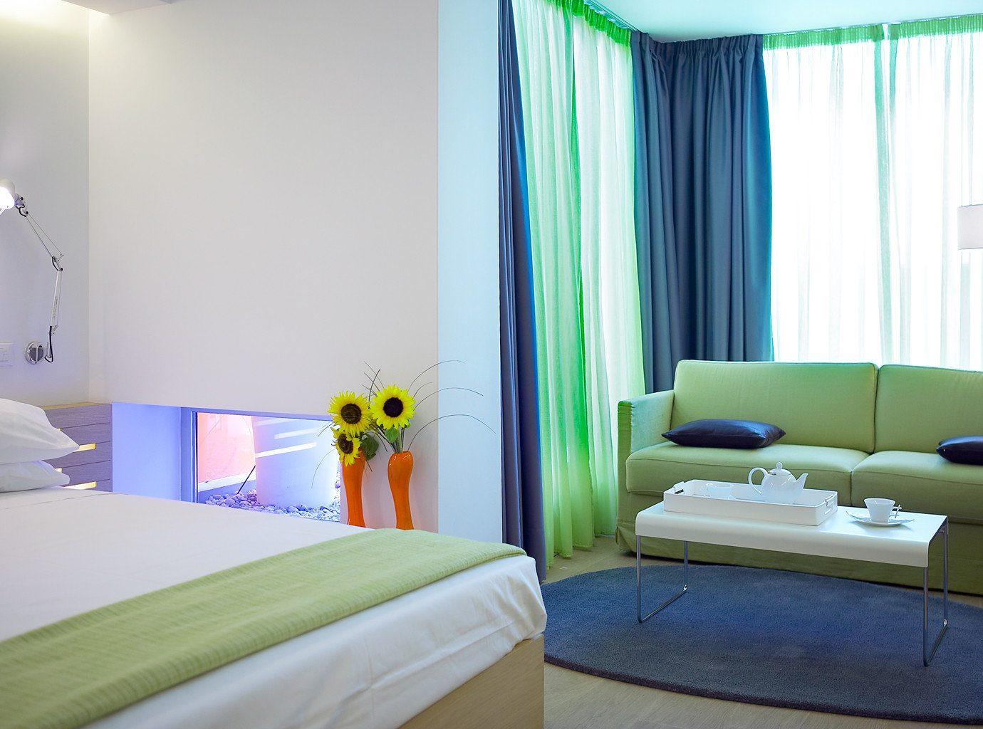 Bedroom City property curtain condominium Suite pillow lamp