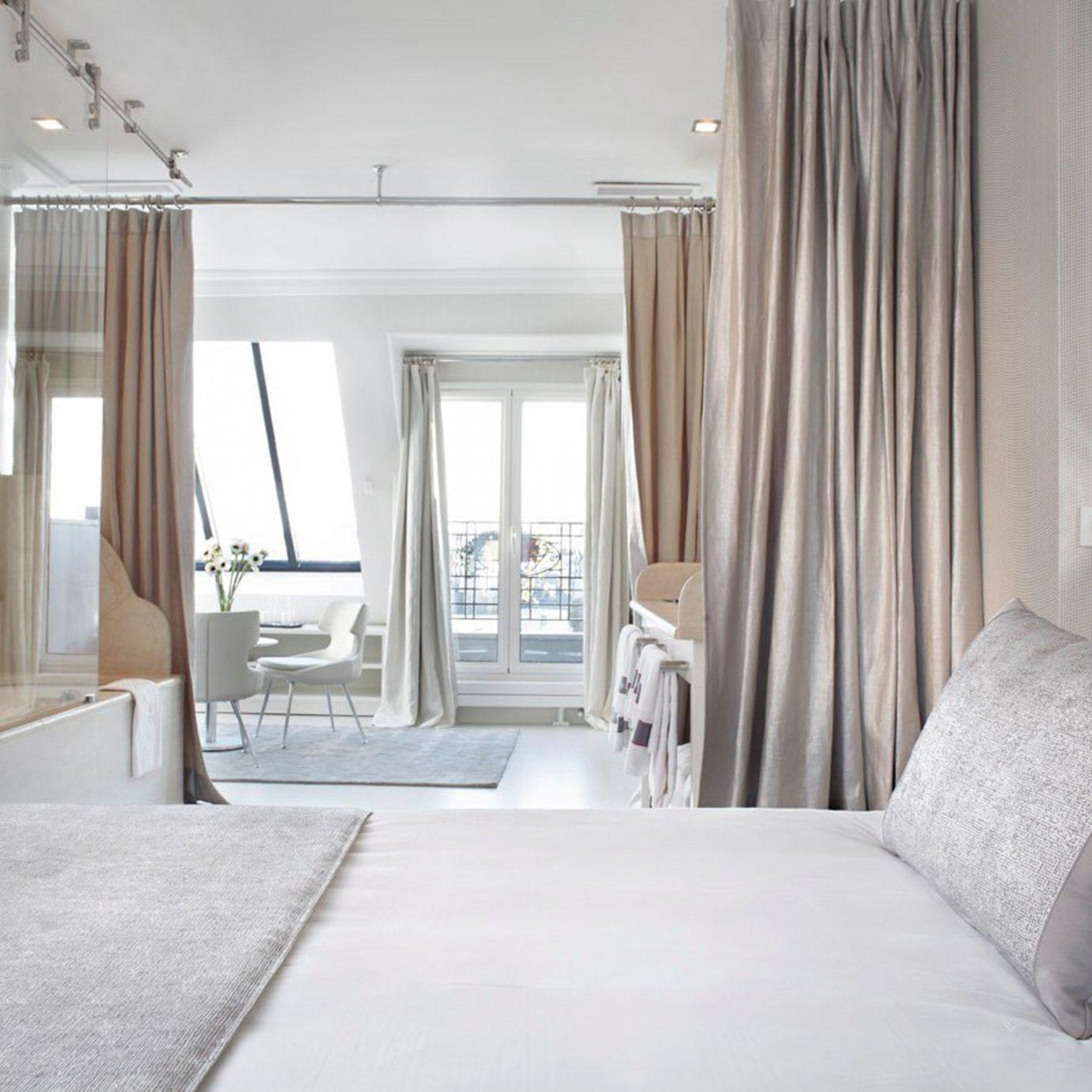 Bedroom Elegant Luxury Modern Suite property curtain scene white home cottage living room