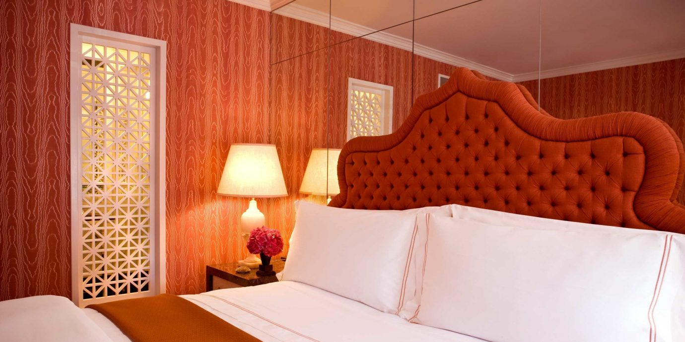 Bedroom Elegant Luxury Suite pillow bed sheet cottage orange