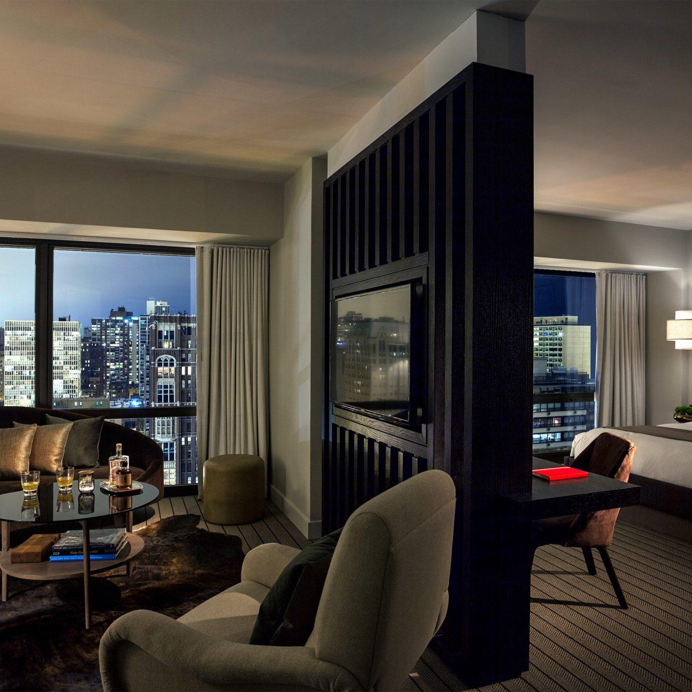 Bedroom Hip Luxury Modern Suite sofa living room property condominium house home Villa