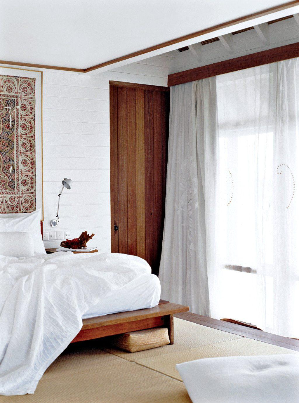 Bedroom Honeymoon Luxury Overwater Bungalow Romance Romantic Tropical Waterfront curtain Suite textile window treatment