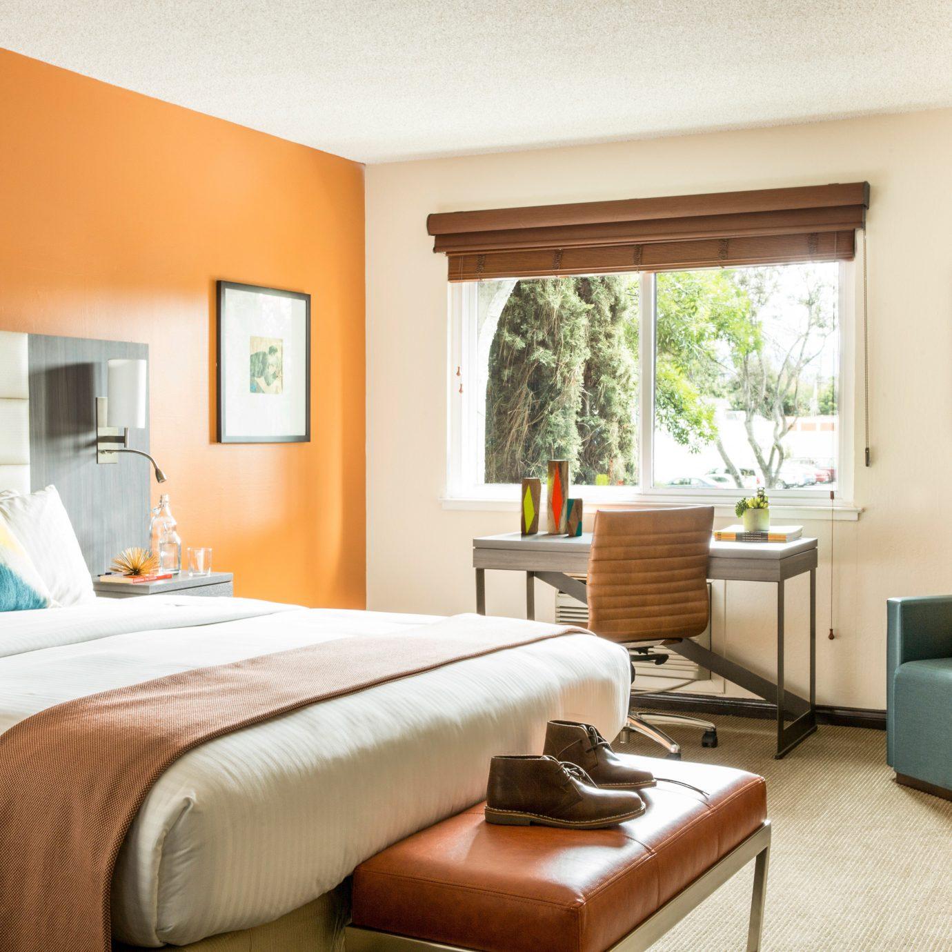 Bedroom Lounge Luxury Modern Suite sofa property living room home cottage condominium orange