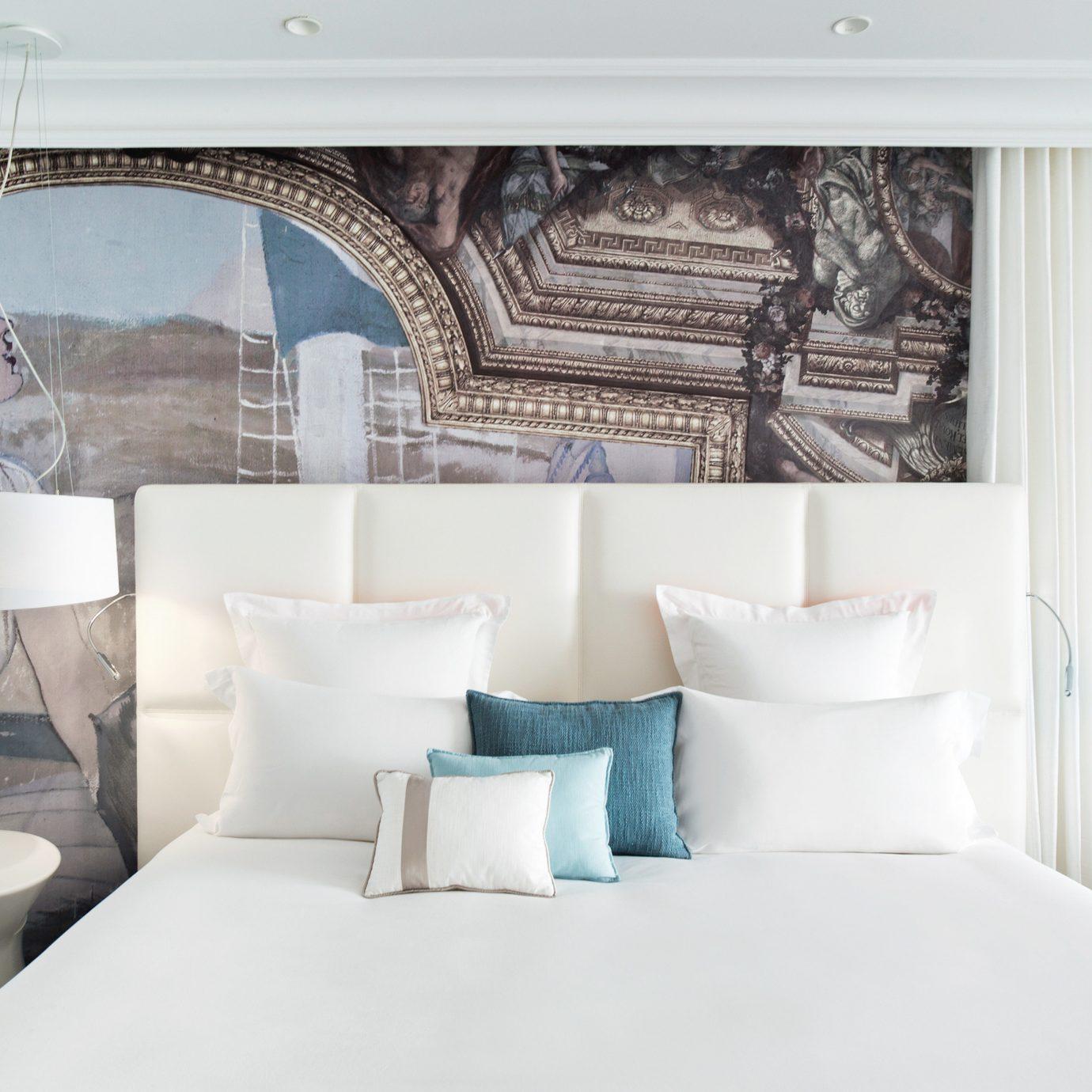 Bedroom Modern Resort white Suite living room bed sheet textile