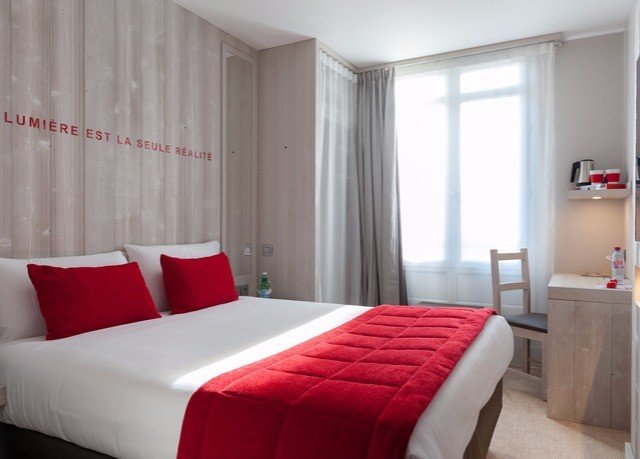 sofa red property Bedroom Suite bed frame curtain bed sheet window treatment comfort interior designer boutique hotel