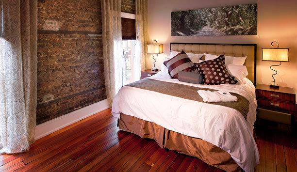 Bedroom bed frame Suite home wood flooring flooring hardwood textile bed sheet bedding mattress window treatment